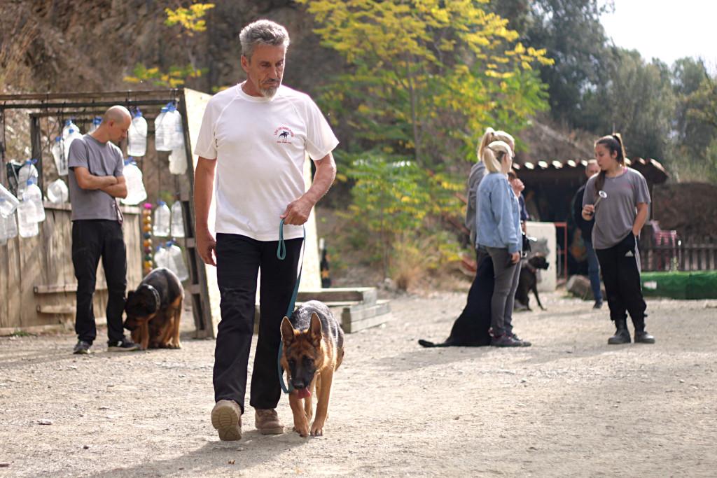 Jean Paul en la escuela de adiestramiento canino